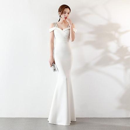 Đầm Dài Trễ Vai Dạ Hội Cho Nữ Xi Diao