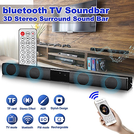 55cm TV Speaker Wireless Bluetooth Soundbar Subwoofer Wireless Home Theater 3D Stereo Surround Sound Bar With Remote