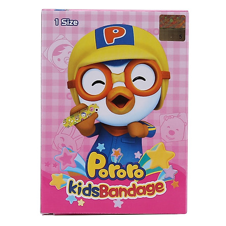 Băng Keo Cá Nhân Pororo Kids H.20M Young Chemical 7.2cm x 1.8cm