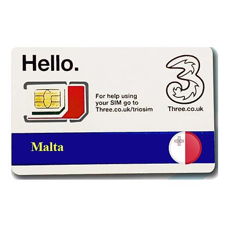 Sim Du lịch Malta 4g tốc  độ cao