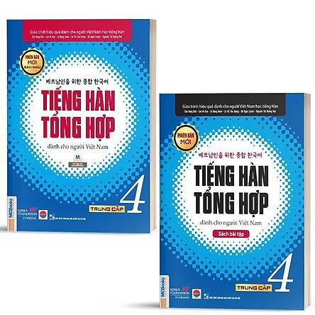 Sách - Combo Tiếng Hàn Tổng Hợp Dành Cho Người Việt Nam Trung Cấp 4 ( Giáo trình + SBT)