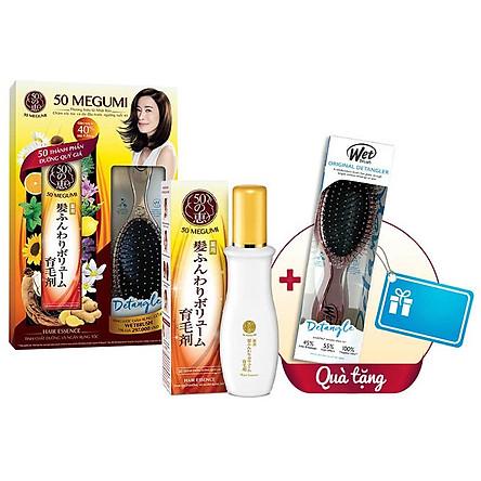 Tinh Chất Dưỡng Và Ngăn Rụng Tóc 50 Megumi Hair Essence 120ml + Tặng Lược Giảm Rụng Tóc, Gỡ Rối Wetbrush