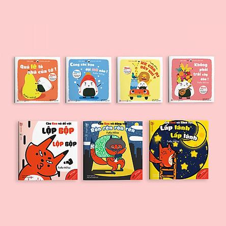 Combo 7 cuốn sách Ehon Chơi cùng cáo Ken và Chơi cùng Giri - Chú bé cơm nắm phần 1