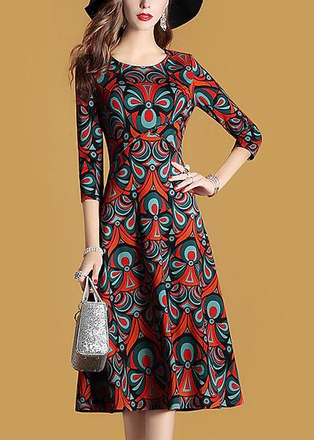 Đầm Họa Tiết Tay Lỡ S250221