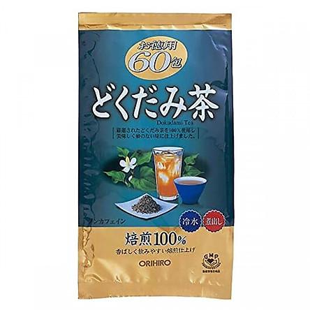 Combo 2 gói trà diếp cá mát gan, giải độc Orihiro gói 60 túi Nhật Bản + Tặng Gói Trà Sữa Matcha Macca