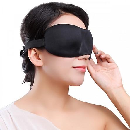 Kính Bịt Mắt Ngủ 3D (Đen)