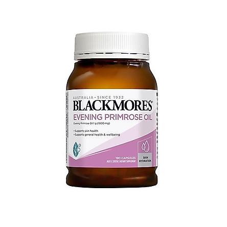 Viên uống Blackmores Dầu hoa anh thảo Evening Primrose Oil hỗ trợ sức khỏe trong thời gian kinh nguyệt và đẹp da 190 viên Nhập Khẩu Úc