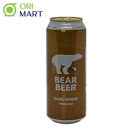 Bia Bear Beer Dark Wheat Imported 5.4%