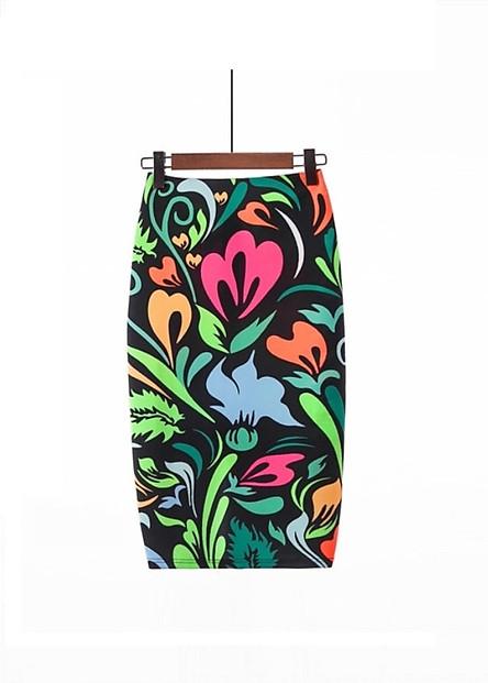 Chân váy cạp liền  in hoa văn mới lạ form cực chuẩn ôm dáng cực đẹp cho bạn gái