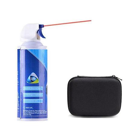 Combo Bình xịt khí nén vệ sinh bàn phím và túi đựng sạc