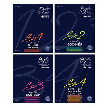 Combo Big step - 4 Bước Chinh Phục Kì Thi THPT Quốc Gia tiếng Anh (4 Cuốn)