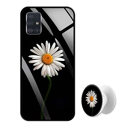 Ốp Lưng Kính Cường Lực cho điện thoại Samsung Galaxy A51 - 0394 8033 CUCHOAMI08 - Tặng Giá Đỡ Điện Thoại Đa Năng Cùng Mẫu Hình - Hàng Chính Hãng