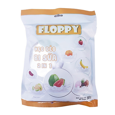 Kẹo bi sữa Floppy vị trái cây 350g