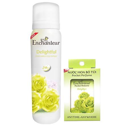 Combo Enchanteur Delightful: Xịt khử mùi 150ml +Nước hoa bỏ túi 18ml