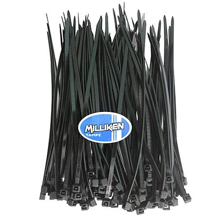 Bộ 100 Sợi Dây Rút Nhựa dài 10cm (3 x 100mm) - đen Milliken Tampe NL-3043