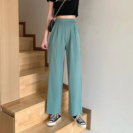 quần ống rộng Lưng Cao Thời Trang Cho Nữ
