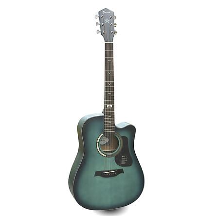 Đàn Guitar Acoustic GT-1DCGR Mầu Xanh Ngọc Viền Đen