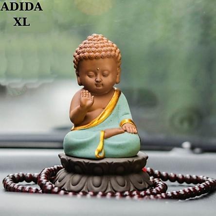 Tượng phật ADIDA bằng gốm cao cấp-tượng trang trí ô tô, nhà cửa, bàn làm việc, thích hợp làm quà tặng