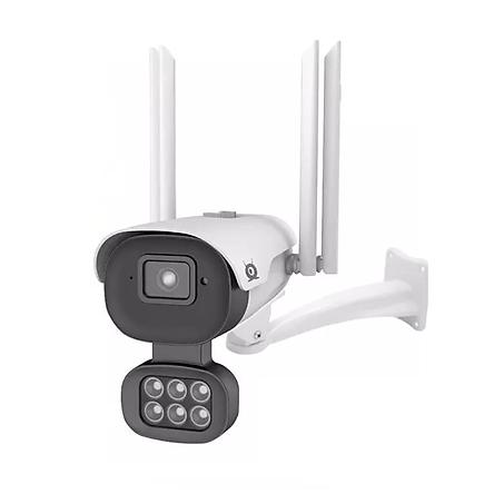Camera Wifi V380Pro V008 4 Râu 5.0 Mpx Ngoài Trời Xem đêm có màu, AI nhận diện khuôn mặt, Báo động chỉ con người có còi hú - Hàng Nhập Khẩu