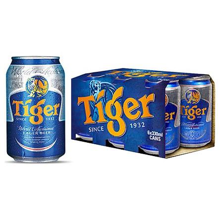 Lốc 6 Lon Tiger Thường (330ml / Lon)