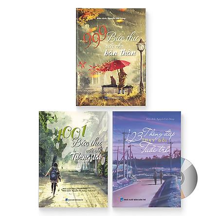 Combo 3 sách: 999 bức thư viết cho bản thân + 1001 bức thư viết cho tương lai + 123 Thông Điệp Thay Đổi Tuổi Trẻ (Trung giản thể – Trung phồn thể – Pinyin – tiếng Việt) + DVD quà tặng