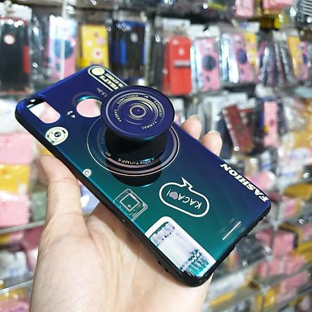 Ốp lưng hình máy ảnh kèm giá đỡ và dây đeo dành cho Realme 3 Pro