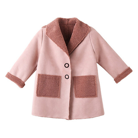 Baby Girl Warm Autumn Winter Coat Jackets Solid Fashion Children Outerwear Clothes With Pockets