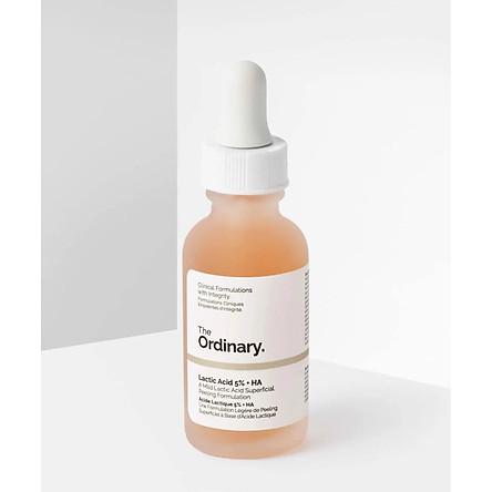 Serum tẩy da chết hóa học The Ordinary Lactic Acid 5%+ HA(Tặng hộp phấn mắt lameila màu ngẫu nhiên)