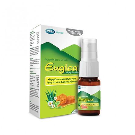 Xịt họng thảo dược Eugica - hỗ trợ ho, viêm họng (10ml)