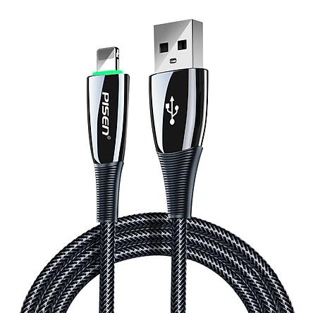 Cáp Pisen Pro  Lightning ZINC intelligent Power-off 1200m -( Cáp dây câu thông minh, tự ngắt ) màu ngẫu nhiên LS-SC01-1200_ Hàng chính hãng