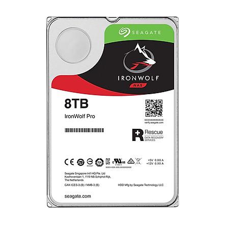 Ổ Cứng HDD NAS Storage Seagate IronWolf Pro 8TB/256MB/3.5 7200RPM - ST8000NE001 - Hàng Chính Hãng