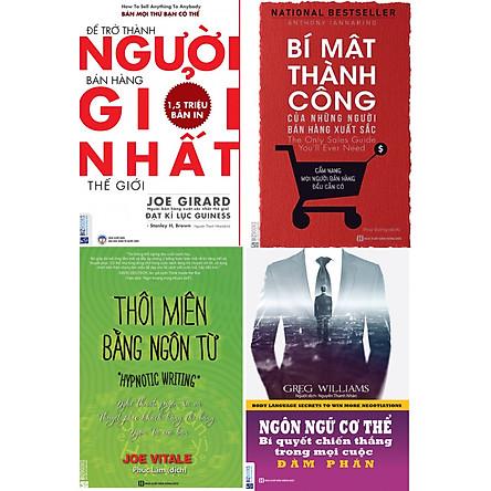 Bộ Sách Tuyệt Chiêu Bán Hàng Thời 4.0 ( Để Trở Thành Người Bán Hàng Giỏi Nhất Thế Giới + Bí Mật Thành Công Của Những Người Bán Hàng Xuất Sắc + Thôi Miên Bằng Ngôn Từ + Ngôn Ngữ Cơ Thể ) tặng kèm bookmark