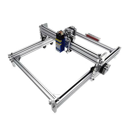 Combo Máy Cắt, Khắc Laser CNC Mini 30x40 3040 S1 -màu bạc( bảng khắc siêu rộng)+ Đầu laser tùy chọn