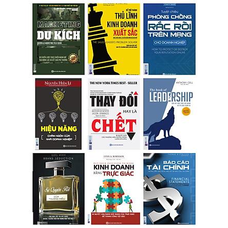 Combo bộ  sách phát triển doanh nghiệp bán chạy nhất hiện nay(tặng bookmark kim loại)
