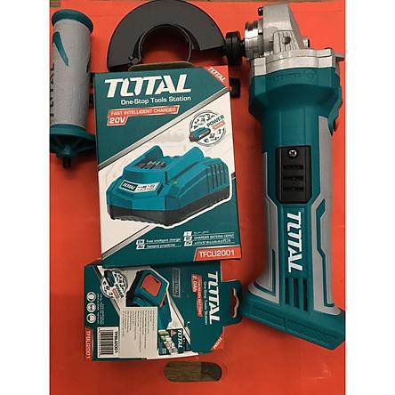 Máy mài góc dùng pin Lithium 20V TOTAL TAGLI1001 GỒM 1 PIN VÀ 1 SẠC | Tiki