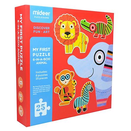 Mideer Ghép Hình Động Vật Trong Rừng Md0078  25pcs 2y+ - My first puzzle - 6 in a box - Animals