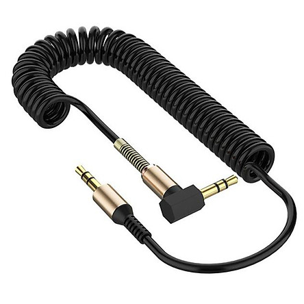JY 3.5 Spring Recording Line 3.5mm Audio Elbow Recording Cable Male To Male Telescopic Car Audio Line