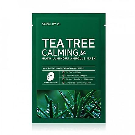 Hộp 10 miếng mặt nạ giấy chiết xuất tràm trà Some By Mi Tea Tree Calming Sheet Mask