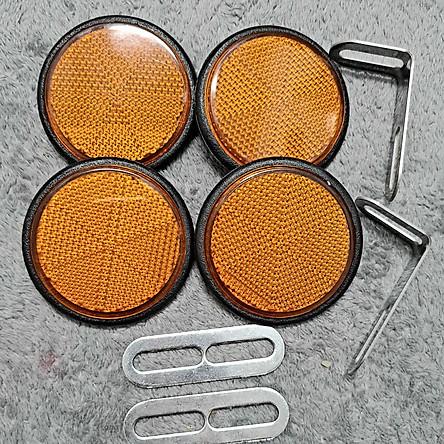 Mắt Mèo Phản Quang gắn mọi loại xe máy 2 cặp trước sau pát bằng inox