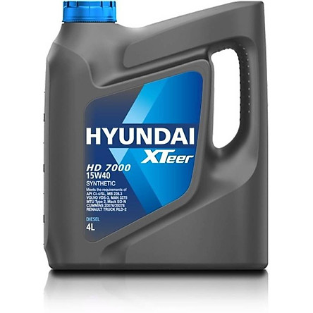 Dầu nhớt xe hạng nặng Hyundai HD7000 15W40 4 lít