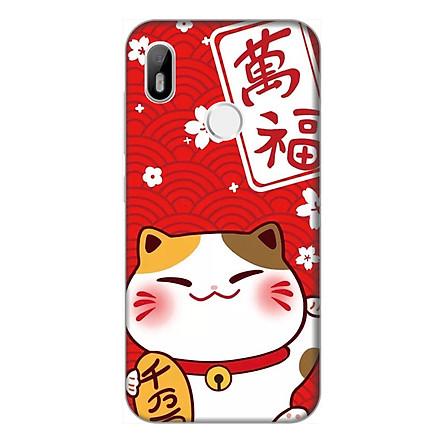 Ốp lưng điện thoại Vsmart Joy 1 hình Mèo May Mắn Mẫu 4 - Hàng chính hãng