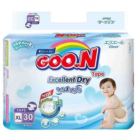 Tã Dán Goo.n Slim Gói Đại XL30 (30 Miếng)