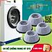 Combo 4 đế chống rung máy giặt + Sét 3 móc dán tường vàng tài lộc HT SYS