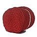 Giỏ nhựa đựng đồ đan tròn có móc xách treo tường đỏ trắng - hình 3