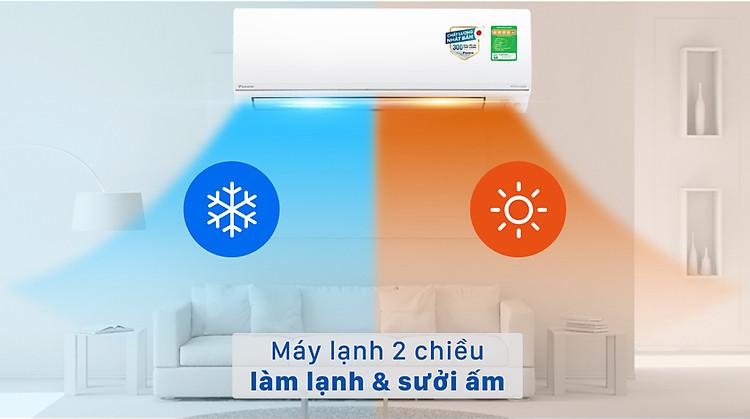 Máy lạnh 2 chiều Daikin Inverter 1 HP FTHF25VAVMV - Máy lạnh 2 chiều làm lạnh và sưởi ấm