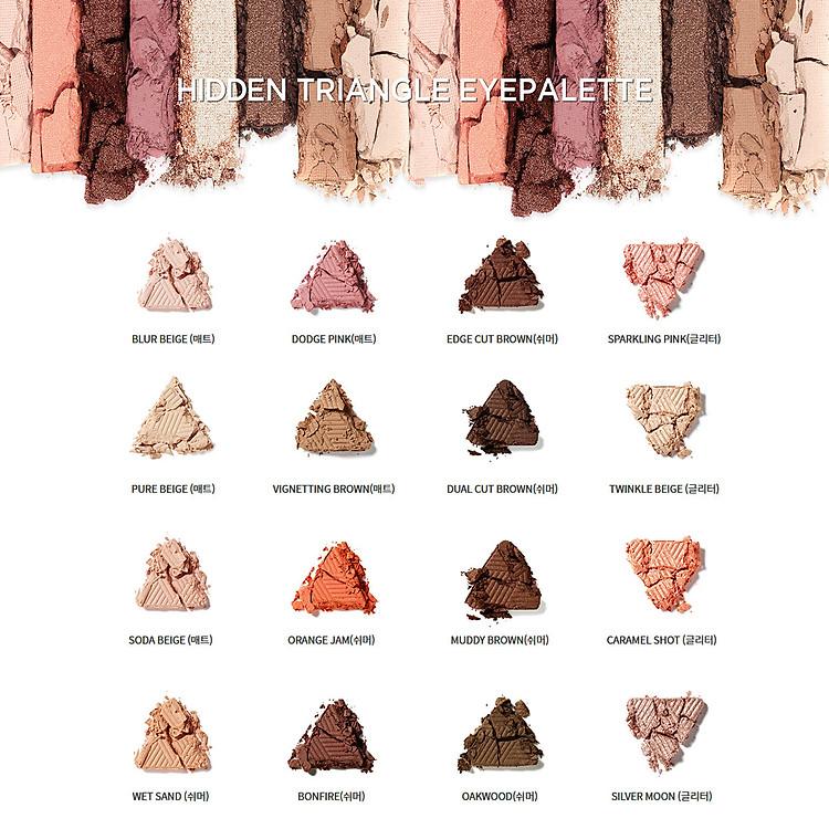 Bảng Phấn Mắt 4 Màu MAKEheal Hidden Triangle Palette 4g 5