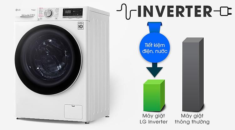 Máy giặt LG Inverter 8.5 kg FV1408S4W   Tiết kiệm điện nước