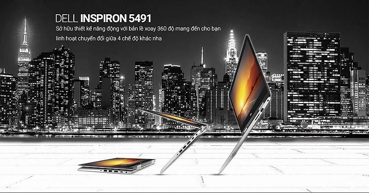 """Thiết kế bản lề xoay 360 độ là điểm giúp Dell 5491 khác biệt với """"người anh em"""" Dell Inspiron 5490"""