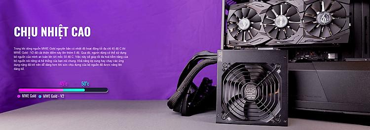 Nguồn máy tính Cooler Master MWE GOLD 750 - V2 750W ( 80 Plus Gold/Màu Đen/Full  Modular)
