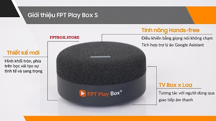 FPT Play Box S 2021 Chính hãng FPT Telecom (Mã T590) Kết hợp Tivi Box và Loa thông minh 8